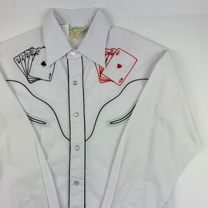 VTG Rocking K Ranchwear Embroidered Poker Shirt